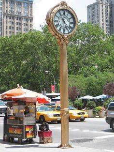 Sidewalk Clock (1909) by Hecla Iron Works Fifth Ave. bet. 23rd & 24th sts. -- Madison Square, NYC