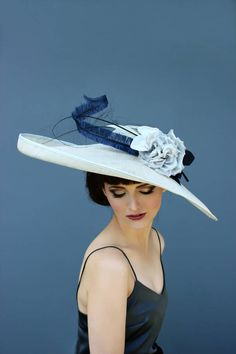 Holly Young Millinery Elegant Large Brimmed Hat.