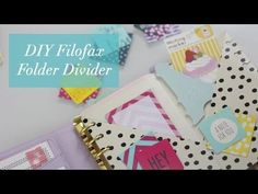 DIY Filofax Folder Divider Tutorial - YouTube - very clever. And so useful. I love the idea that you can open up the little folder, and access it from anywhere in the planner. #diy #filofax