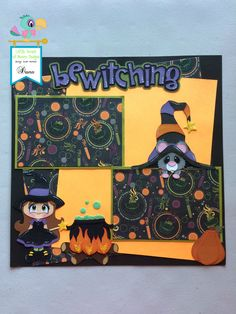 Little Scraps of Heaven Designs Halloween Layout using the files Quite Bewitching and Jeepers Squeakers!