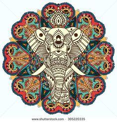 16 Dessins De Coloriage Elephant Mandala A Imprimer Plus Art