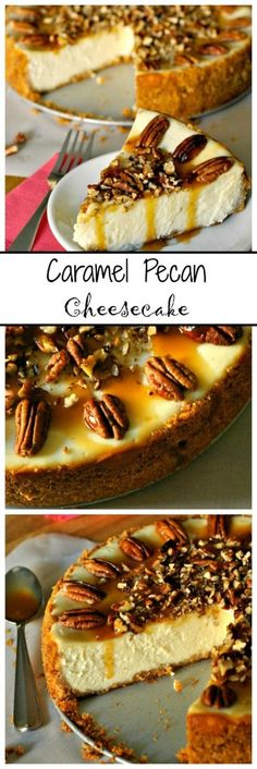{Guest Post} Caramel Pecan Cheesecake | Marsha's Baking Addiction