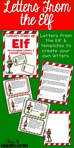 Elf on the Shelf Letters for the classroom. Leave letters from the Elf for your students.