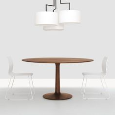 Shop SUITE NY for the Turntable designed by Formstelle for Zeitraum and more solid wood dining tables, pedestal tables, wood pedestal tables and green furniture