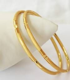 Buy Fine Gold Plated Bangle bangles-and-bracelet online Plain Gold Bangles, Gold Bangles For Women, Gold Bangles Design, Gold Plated Bangles, Gold Earrings Designs, Necklace Designs, Jewelry Design, Bangle Bracelets, Silver Bracelets