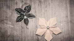Origami Paper Flower - Craft Tutorial. Learn how to make elegant origami flowers. Step by step video tutorial.