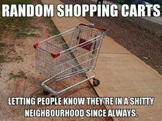 Random shopping carts…