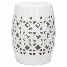 Showcasing a charming concentric pattern, this ceramic stool is the perfect seating solution for lazy summer nights in the garden or use one as a side table in your conservatory.   Product: StoolConstruction Material: CeramicColour: WhiteFeatures: Suitable for indoor or outdoor useDimensions: 47 cm H x 33 cm DiameterCleaning and Care: Wipe with a damp cloth. Do not use chemicals and household cleaners, as they may damage the finish. Avoid extreme temperature and store indoors during long ...