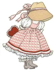 Sunbonnet Sue Months of the Year - February
