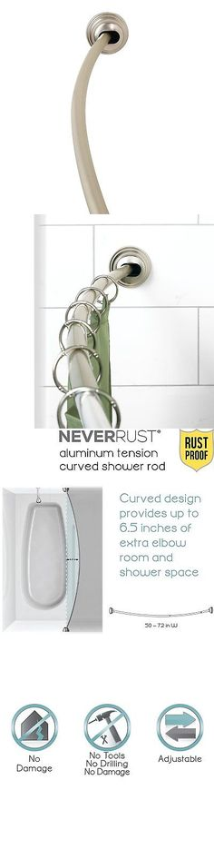 High Quality Shower Curtain Rods 168132: Adjustable Expandable Curved Shower Curtain Rod  Aluminum Chrome 45 To 72 Inch  U003e BUY IT NOW ONLY: $45.66 On EBay!
