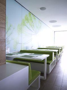 Nat. Fine Bio Food Restaurant Interior, Hamburg, Germay by eins:eins Architects