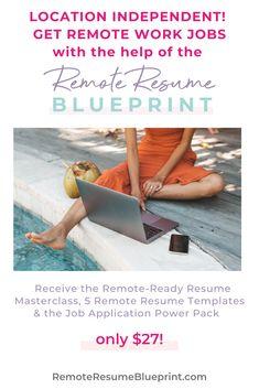 Online Employment, Create A Resume, Resume Builder, Online Entrepreneur, Digital Nomad, Work From Home Moms, Virtual Assistant, Resume Templates, Money Tips