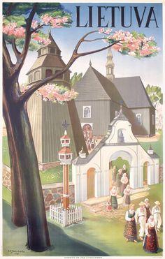 Vintage Travel Poster - Lietuva/Lituania.
