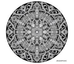 Mandala 62 - July by Mandala-Jim.deviantart.com on @deviantART