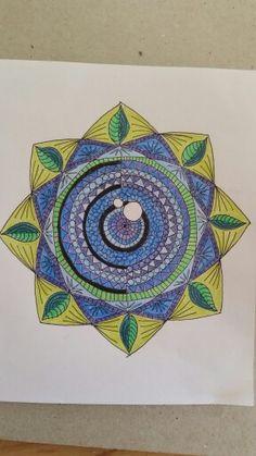 Blue - green mandala