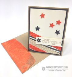 Stampin up  mary fish pretty fathers day card ideas delightful dozen star punch catalog