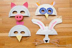Neposedné nožnice: Karnevalové masky z papierových tanierov Puppets, Little Ones, Costumes, Children, Projects, Fun, Party, Iris, Manicure