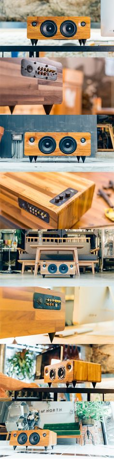 Minfort is raising funds for : The Multi-function Handmade Wooden Speaker on Kickstarter! Bringing audio engineering, craftsmanship, and technology together. Diy Bluetooth Speaker, Diy Speakers, Tower Speakers, Audio Design, Speaker Design, Diy Electronics, Electronics Projects, Wood Projects, Woodworking Projects