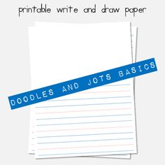 printable write and draw paper