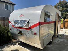 1954 Aljoa Sportsman 14' - Folsom, CA Camper Trailer For Sale, Vintage Campers Trailers, Trailers For Sale, Camper Trailers, Vintage Caravans, Camper, Campers, Caravan