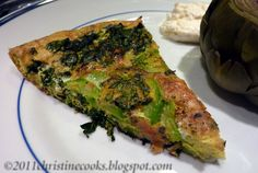 Christine Cooks: Garden Fresh Frittata with Zucchini, Chard, Kale and Basil