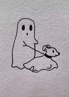 Mini Drawings, Cool Art Drawings, Doodle Drawings, Art Drawings Sketches, Doodle Art, Easy Drawings, Tattoo Drawings, Ghost Drawings, Small Drawings