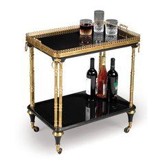 Black & Gold Regency Tea Trolley