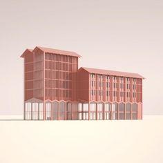 Maquette Architecture, Architecture Model Making, Paper Architecture, Garden Architecture, Architecture Design, Lugano, Master Plan, Diy Dollhouse, Building Design