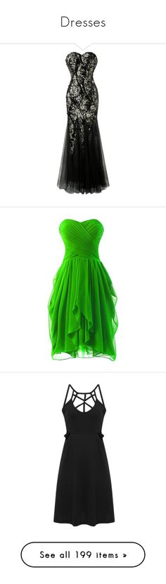 """""""Dresses"""" by jen24610 ❤ liked on Polyvore featuring dresses, strapless lace dress, lace front dress, lace prom dresses, lace cocktail dress, prom dresses, ruched bridesmaid dress, green dress, short bridesmaid dresses and green bridesmaid dresses"""