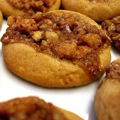 DESSERT - Pecan Pie Cookies --     ~~These have become a favorite to almost every person who has tried them and a recipe I have shared MANY times! A definite MUST try for pecan pie fans!