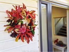 hemma hos Johanssons: jesienny DIY -- autumn wreth -- höst krans