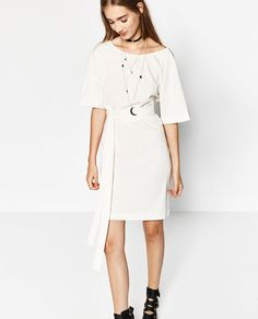 ZARA - TRF - DRESS WITH TIE-WAIST
