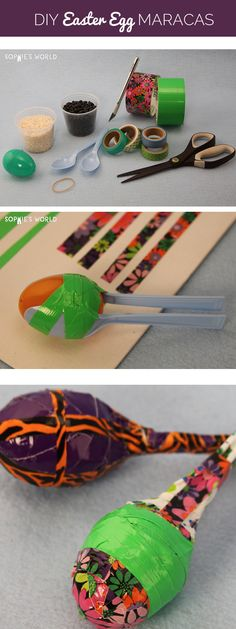 Easter's come and gone, but the pile of plastic eggs remains, what to do? Make some noise with this fun recycled craft! Using spoons and leftover easter eggs, make a whole bunch of maracas.