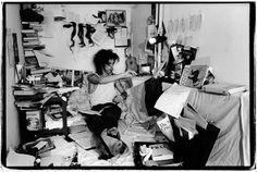 Euchrid's Crib, Nick Cave in Yorkestrasse, West Berlin, 1985. Photo by Bleddyn Butcher, born London 1953