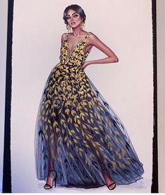 Beautiful fashion illustration by 💙🎨💛🎨💛🎨💙 xxx. Repost fashion illustration by 💙🎨💛🎨💛🎨💙 xxx. Fashion Illustration Sketches, Fashion Sketches, Illustration Art, Fashion Design Drawings, Dress Sketches, Fashion Portfolio, Fashion Outfits, Womens Fashion, Fashion Art