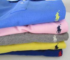 NWT Polo Ralph Lauren Smooth Interlock Polo Shirts Custom Fit * S M L XL XXL #RalphLauren #PoloShirt
