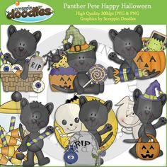 Panther Pete Happy Halloween Clip Art Download