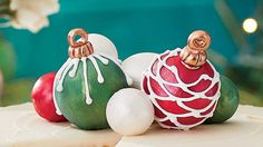 Top your Christmas cake with these ornaments we can't guarantee they will make it to dessert.