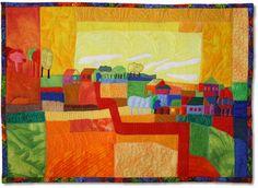 Biggi's Bits 'n Pieces-Landschaft nach Ton Schulten Wandbild Stoff ...