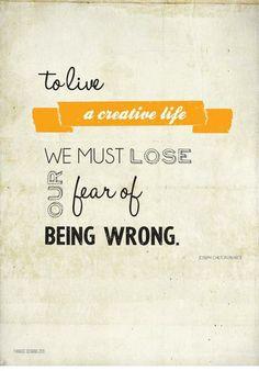 to live a creative life