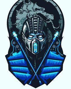 """Sub-Zero Mortal Kombat"" Stickers by Sub Zero Mortal Kombat, Mortal Kombat Art, Spiderman Movie, Mortal Combat, Mileena, Fighting Games, Video Game Art, Street Fighter, Game Character"