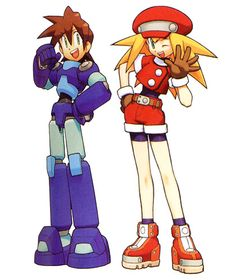 Mega Man Legends - Mega Man Volnut (Rock in Japan) & Roll Casket