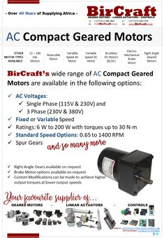 Compact Geared Motors  Automated Doors / Automation / Conveyors / Dental / Feeders / Graphics / Lab Equipment / Labelling Equipment / Measuring / Medical / Mixers & Stirrers / Photographic / Printing / Precision / Turntables / Vending & Dosing Equipment and many more.  Contact our Sales Team today for your Compact Geared Motor needs!  #BirCraft #motion #torque #geared #dc #custom #staysafe #corona #lockdown Mechanical Gears, Linear Actuator, Lab Equipment, Mixers, Dental, Compact, Printing, Medical, Graphics