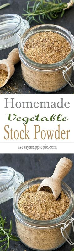 DIY homemade vegan vegetable stock powder-  easy to make and healthier than the store bough one. 100% natural, free of preservative and less sodium. Vegetable Stock, Homemade, Vegan, Vegetables, Healthy, Garden, Food, Veggies, Eten