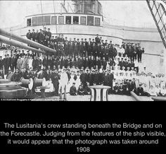 Lusitania and her crew 1908