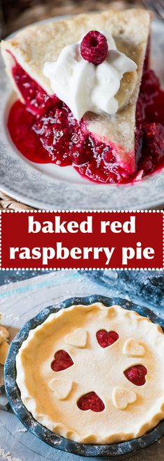 Use fresh or frozen red raspberries in this Amish-style baked raspberry pie. The tangy red filling takes just minutes to mix together. Red Raspberry, Health Snacks, Frozen, Cereal, Fresh, Pie, Baking, Weight Loss, Breakfast