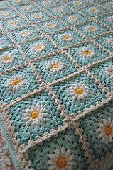 Part 2 of 2 for creating granny square with flower center.