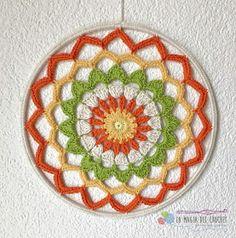 Radiant Rose Mandala Doily: A Free Crochet Pattern For You Mandala Au Crochet, Crochet Motifs, Crochet Shawl, Crochet Patterns, Crochet Baby Bonnet, Crochet Dollies, Crochet Home, Crochet Gifts, Dreamcatcher Crochet