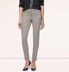 Heathered Bi-Stretch Ankle Pants in Petite Julie Fit | Loft $69.50