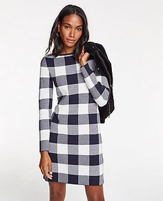 311756f0e58 Shop Ann Taylor for effortless style and everyday elegance. Our Buffalo  Plaid Sweater Dress is the perfect piece to add to your closet.